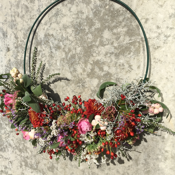 Floristik, Spezialgestecke, Spezialgebinde, Blumen-Girlanden